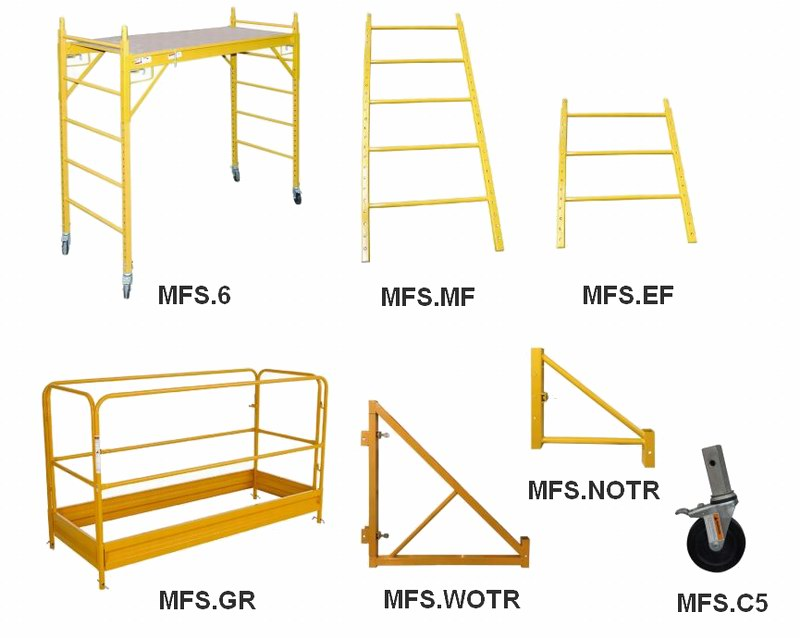 Baker Scaffold, Multifunctional Scaffolding Components